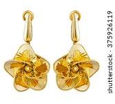 gold earrings fashion stylish...   Shutterstock . vector #375926119