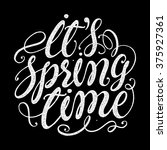 'it's spring time'.... | Shutterstock .eps vector #375927361