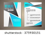 abstract vector modern flyers... | Shutterstock .eps vector #375930151