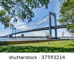 view of throgs neck bridge in... | Shutterstock . vector #37593214