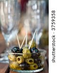 green and black olives and... | Shutterstock . vector #3759358