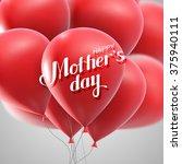 happy mothers day. vector... | Shutterstock .eps vector #375940111