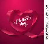 happy mothers day. vector... | Shutterstock .eps vector #375940225