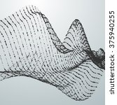 3d abstract digital wave of... | Shutterstock .eps vector #375940255