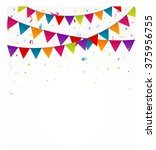 birthday bunting flags with... | Shutterstock .eps vector #375956755