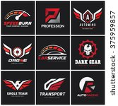 automotive car services logo set | Shutterstock .eps vector #375959857