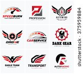 automotive car services logo set | Shutterstock .eps vector #375959884