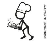 stick figure cooking hot...   Shutterstock .eps vector #375960199