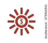 business profits icon  vector... | Shutterstock .eps vector #375963541