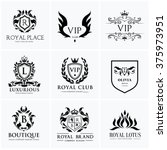 luxury logo collection design... | Shutterstock .eps vector #375973951