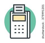 card terminal vector icon | Shutterstock .eps vector #375991201
