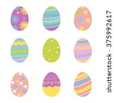 happy easter greeting card  | Shutterstock .eps vector #375992617