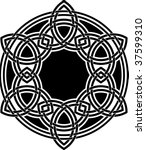 celtic knotwork | Shutterstock .eps vector #37599310