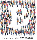 large group of people forming... | Shutterstock .eps vector #375996784