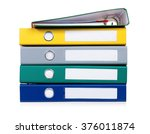 colorful file folders  isolated ...   Shutterstock . vector #376011874