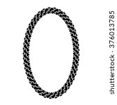 vector black chain oval frame | Shutterstock .eps vector #376013785