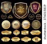 golden label retro vintage... | Shutterstock .eps vector #376015819