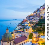 positano  amalfi coast ...   Shutterstock . vector #376017424