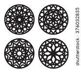 geometric decorative mandala... | Shutterstock .eps vector #376032835