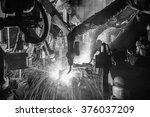 team welding robots represent... | Shutterstock . vector #376037209