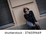 portrait of a beautiful model | Shutterstock . vector #376039669