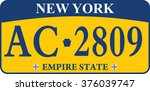 car registration number plates | Shutterstock .eps vector #376039747