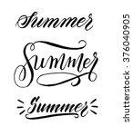 summer. hand written elegant... | Shutterstock .eps vector #376040905