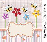 baby shower invitation. cute... | Shutterstock .eps vector #376041625
