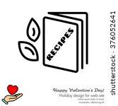 web line icon. recipe book | Shutterstock .eps vector #376052641
