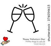 web line icon. glasses of... | Shutterstock .eps vector #376054615