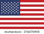 american flag vector | Shutterstock .eps vector #376070905