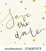 vector invitation template with ... | Shutterstock .eps vector #376087075