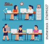 working people infographic... | Shutterstock .eps vector #376090327