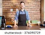 portrait of a handsome young... | Shutterstock . vector #376090729