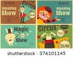 Circus Entertainment Set Poste...
