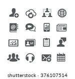business communications icons   ... | Shutterstock .eps vector #376107514