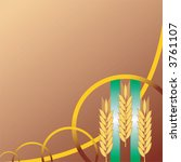 Background with wheat ears in industrial style.