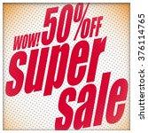 super sale banner. sale... | Shutterstock .eps vector #376114765