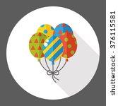 birthday balloon flat icon | Shutterstock .eps vector #376115581