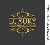 luxury logo | Shutterstock .eps vector #376120039