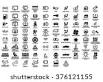 vector isolated dashboard icons ... | Shutterstock .eps vector #376121155