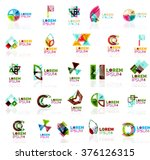collection of colorful abstract ... | Shutterstock .eps vector #376126315