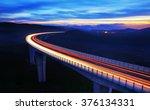 Highway Bridge At Dusk