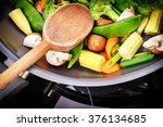 healthy cooking concept with... | Shutterstock . vector #376134685