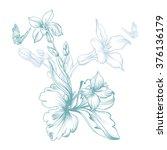vector image of a spring flower ... | Shutterstock .eps vector #376136179