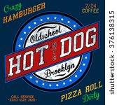 hot dog tee graphic | Shutterstock .eps vector #376138315