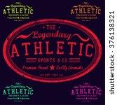 athletic t shirt graphic design | Shutterstock .eps vector #376138321