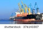 cargo ship  bulk carrier ... | Shutterstock . vector #376143307