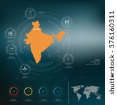 india  map infographic | Shutterstock .eps vector #376160311
