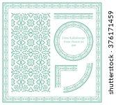 vintage frame pattern set 099... | Shutterstock .eps vector #376171459